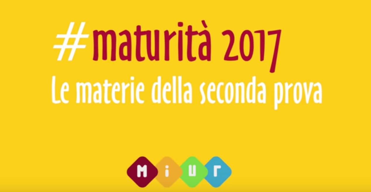 MATURITA' 2017: SECONDA PROVA